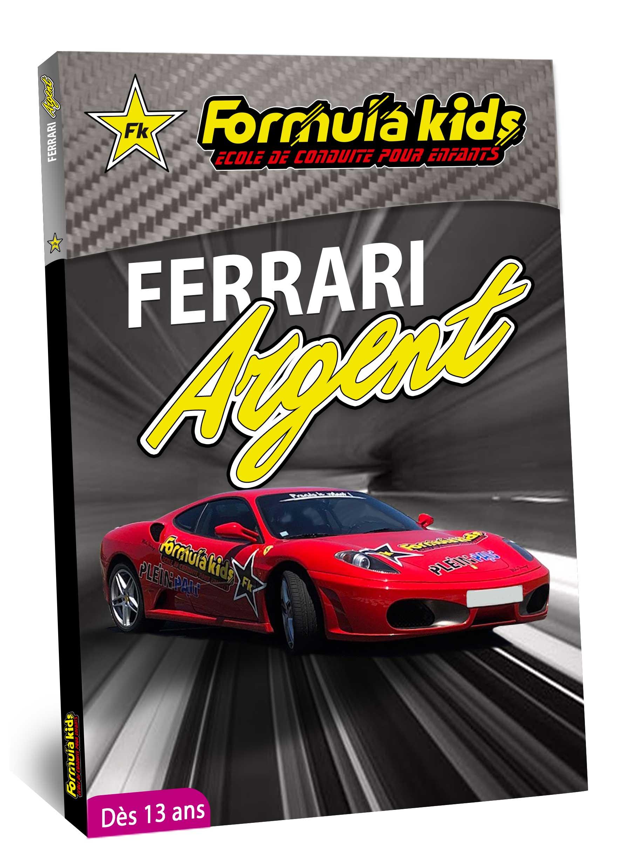 Ferrari Argent - Conduire une Ferrari dès 13 ans - Formula Kids - Stage de conduite enfant