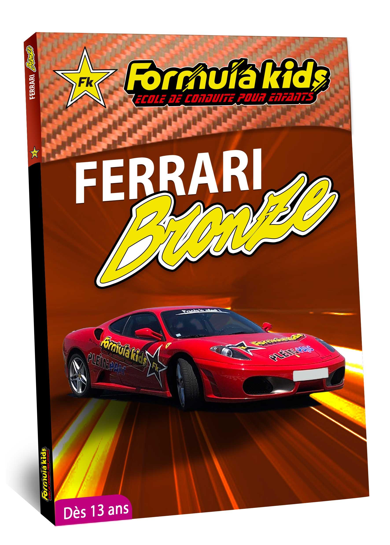 Ferrari Bronze - Conduire une Ferrari dès 13 ans - Formula Kids - Stage de conduite enfant