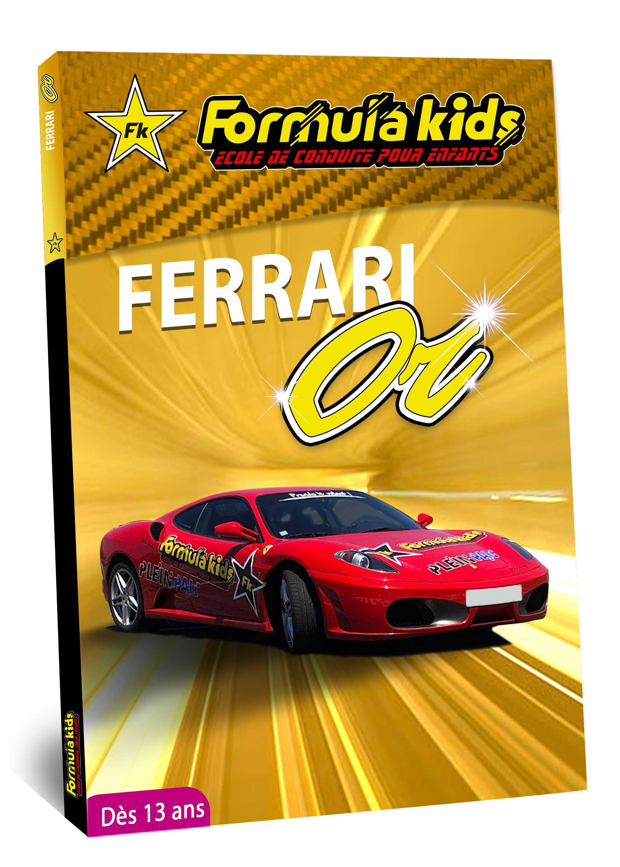 Ferrari Or - Conduire une Ferrari dès 13 ans - Formula Kids - Stage de conduite enfant