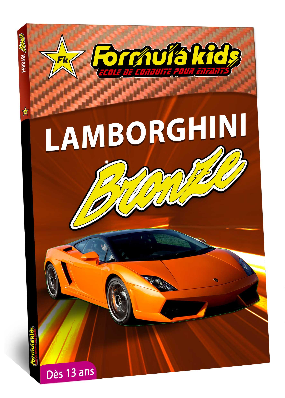 Lamborghini Bronze - Conduire une Lamborghini dès 13 ans - Formula Kids - Stage de conduite enfant