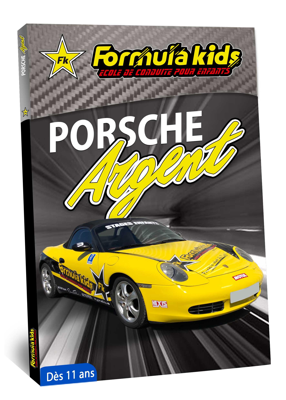 Porsche Argent - Conduire une Porsche dès 11 ans - Formula Kids - Stage de conduite enfant