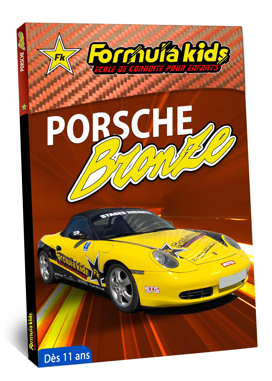 Porsche Bronze - Conduire une Porsche dès 11 ans - Formula Kids - Stage de conduite enfant
