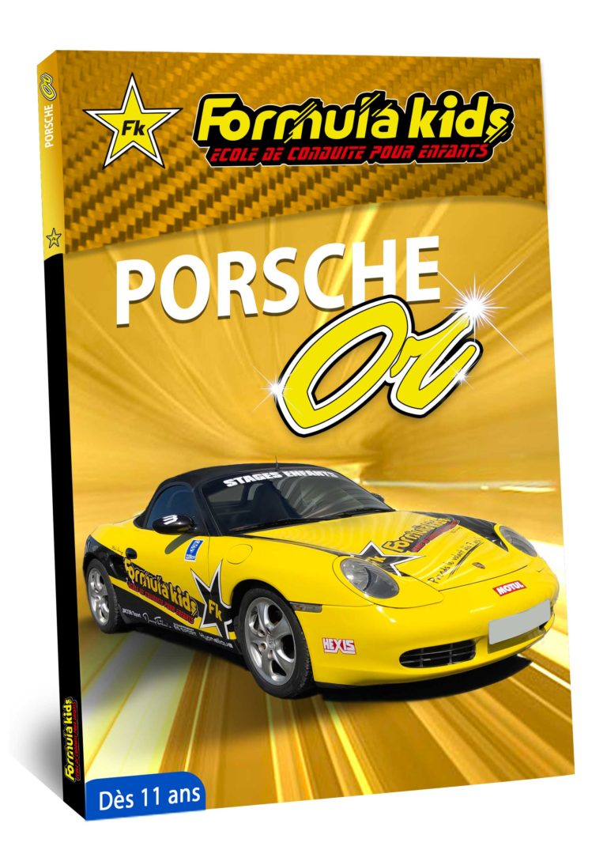 Porsche Or - Conduire une Porsche dès 11 ans - Formula Kids - Stage de conduite enfant