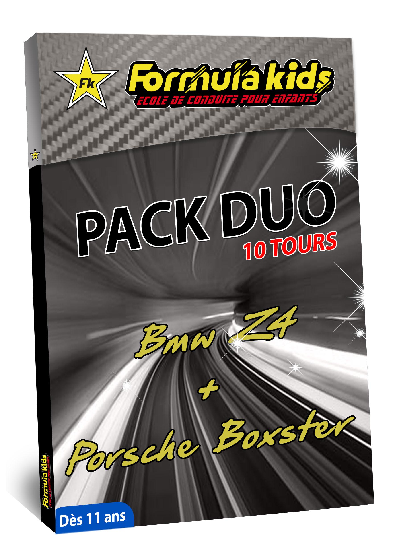 Pack Duo Argent 10 Tours - Conduire une BMW Porsche dès 11 ans - Formula Kids - Stage de conduite enfant