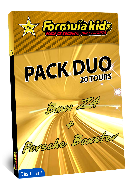 Pack Duo Or 20 Tours - Conduire une BMW Porsche dès 11 ans - Formula Kids - Stage de conduite enfant