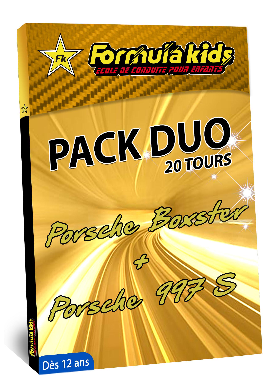 Pack Duo Or 20 Tours - Conduire une Porsche dès 12 ans - Formula Kids - Stage de conduite enfant