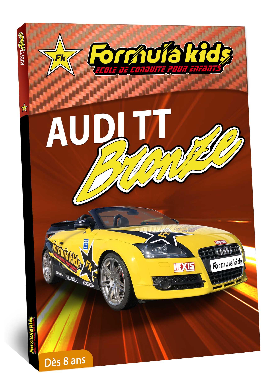 Audi Bronze - Conduire une Audi TT dès 7 ans - Formula Kids - Stage de conduite enfant - Stage de pilotage sur As'Phalte - Stage Junior - Conduire une TT dès 7 ans - Formula Kids - Stage de conduite enfant - Stage de pilotage sur As'Phalte - Stage Junior - Cadeau - Idée anniversaire - Smart Box - Idée Cadeau - Loisir - Famille - Pilotage - - Pilotage GT - Pilotage enfant - Audi - Audi RS - Audi TT - RS6
