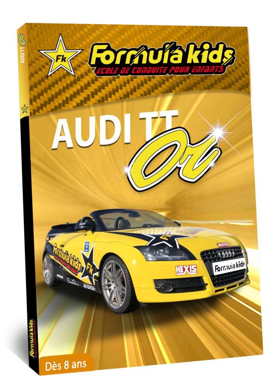 Audi or - Conduire une Audi TT dès 7 ans - Formula Kids - Stage de conduite enfant - Stage de pilotage sur As'Phalte - Stage Junior - Conduire une TT dès 7 ans - Formula Kids - Stage de conduite enfant - Stage de pilotage sur As'Phalte - Stage Junior - Cadeau - Idée anniversaire - Smart Box - Idée Cadeau - Loisir - Famille - Pilotage - - Pilotage GT - Pilotage enfant - Audi - Audi RS - Audi TT - RS6