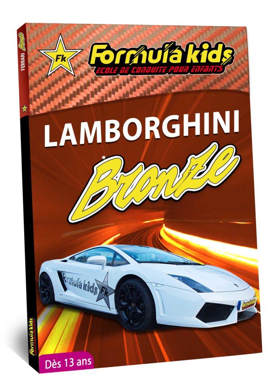 Lamborghini Bronze - Conduire une Lamborghini dès 7 ans - Formula Kids - Stage de conduite enfant - Stage de pilotage sur As'Phalte - Stage Junior - Gallardo LP 560 - Cadeau - Idée anniversaire - Smart Box -